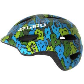 Giro Scamp Fietshelm Kinderen, blue/green creature camo
